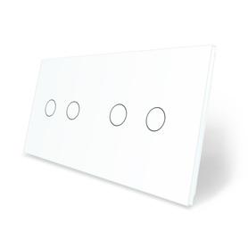 Panel szklany 2+2 biały WELAIK ®