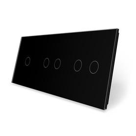 Panel szklany 1+2+2 czarny WELAIK ®