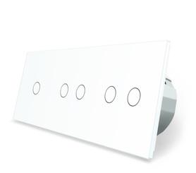 Włącznik dotykowy 1+2+2 zestaw kolor biały WELAIK ®