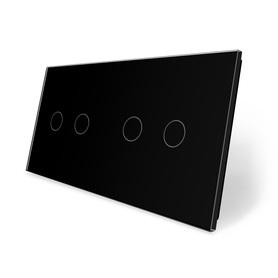 Panel szklany 2+2 czarny WELAIK ®