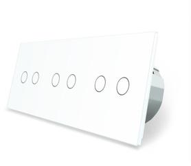 Włącznik dotykowy 2+2+2 zestaw kolor biały WELAIK ®