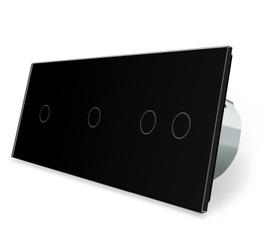 Włącznik dotykowy 1+1+2 zestaw kolor czarny WELAIK ®