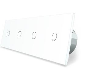 Welaik włącznik dotykowy czterokrotny biały