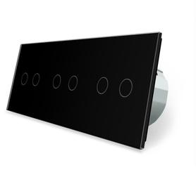 Włącznik dotykowy 2+2+2 zestaw kolor czarny WELAIK ®