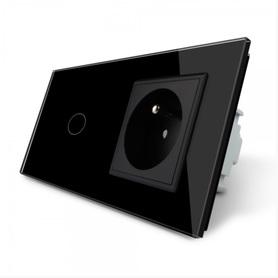 Włącznik 1+G zestaw kolor czarny WELAIK ®