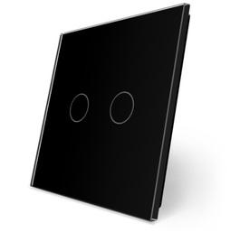 Podwójny czarny panel szklany P2-12 WELAIK ®