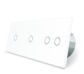 Włącznik dotykowy 1+1+2 zestaw kolor biały WELAIK ®