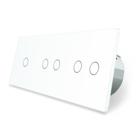 Włącznik dotykowy 1+2+2 zestaw kolor biały WELAIK ® (1)