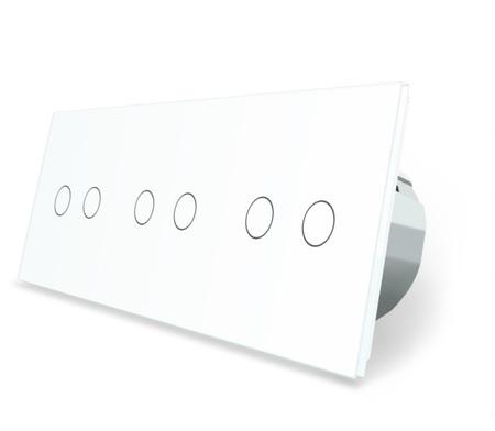 Włącznik dotykowy 2+2+2 zestaw kolor biały WELAIK ® (1)