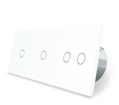 Włącznik dotykowy 1+1+2 zestaw kolor biały WELAIK ® (1)
